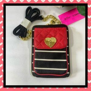 Betsey Johnson North South Striped Crossbody Bag